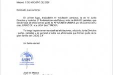 AFEPE felicita a las peñas cadistas