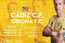 El cartel de la Jornada 5, Cadiz C.F -  Girona F.C., dedicado a Chulapos Cadistas