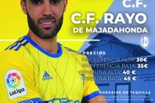 Cartel Cadiz CF - Rayo Majadahonda dedicado a Malakadistas (Málaga)