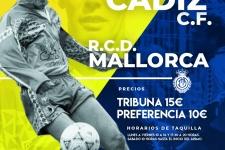 """Cartel Cadiz CF - RCD Mallorca, dedicado a """"Exilio Cadista"""" (Sevilla)"""