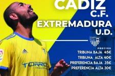"""Cartel del Cadiz CF - UD Extremadura dedicado a """"La Holoturia Amarilla"""""""